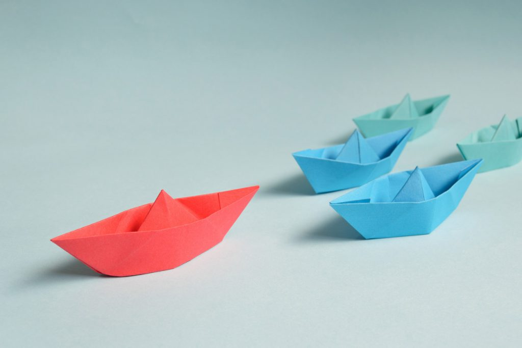paper-boats on solid surface