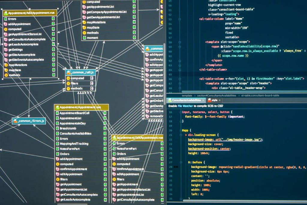 Database administration structure in an integrated development environment.