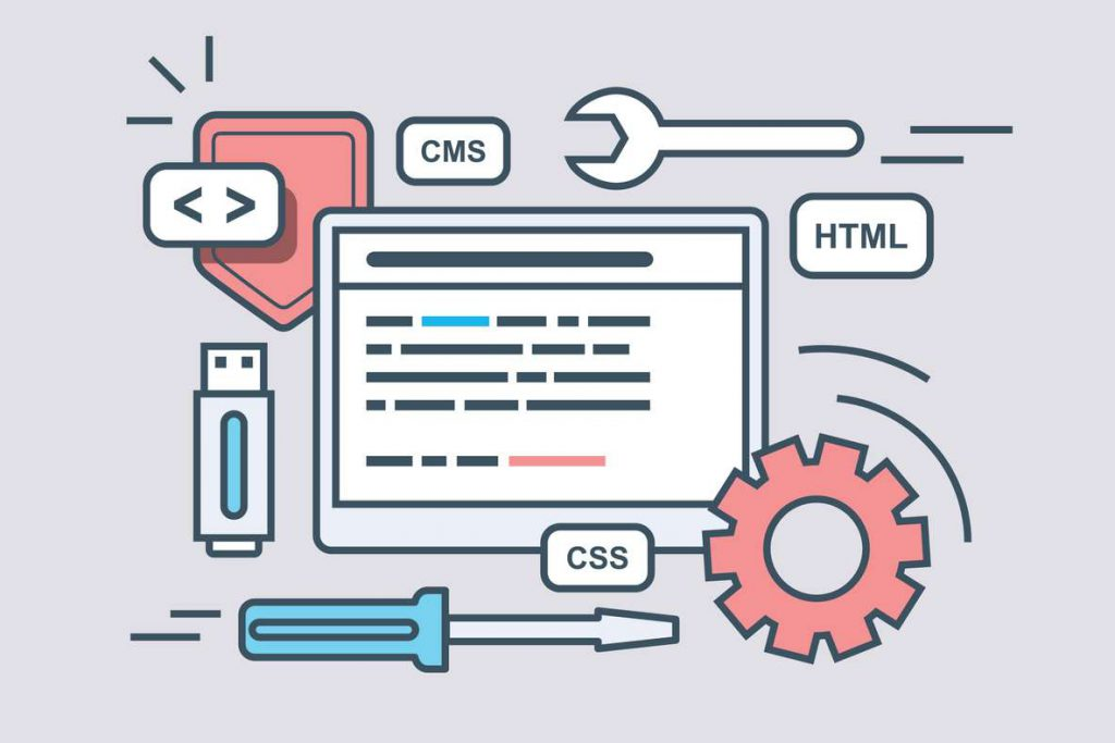 : Illustration of CMS web programming script included for IT systems integrations.