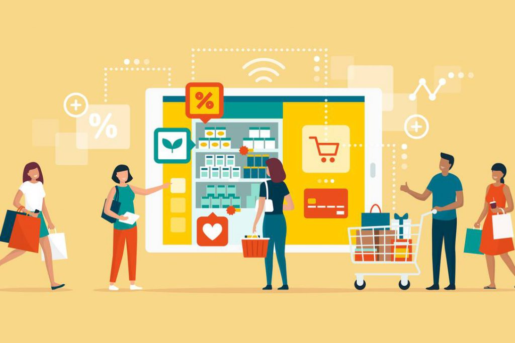 A grocery store adding an e-commerce store for easier and safer shopping options.