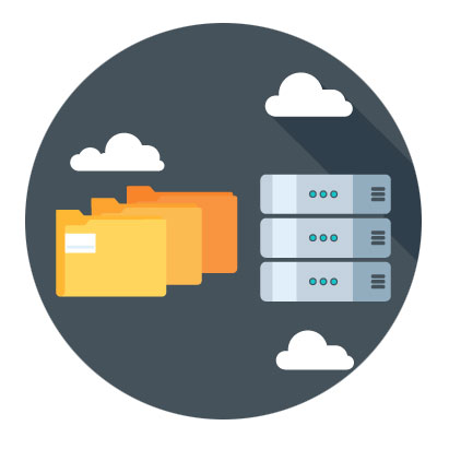 File, database and cloud icons